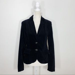 ANTHROPOLOGIE black velvet blazer